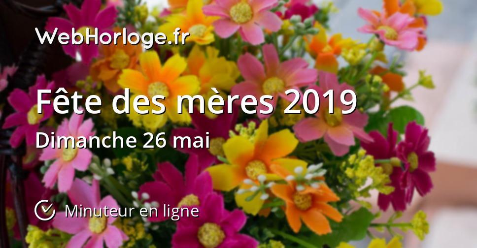 Fête Des Mères 2019 Minuteur En Ligne Webhorlogefr