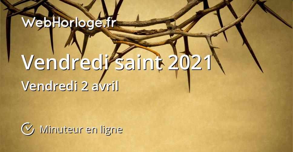 Vendredi saint 2021